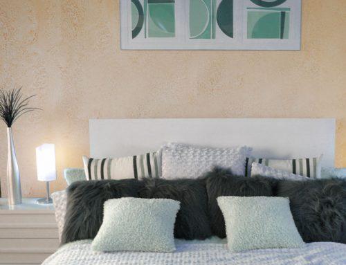 Wnętrza w stylu śródziemnomorskim. Pasta strukturalna Anticco Primacol Decorative